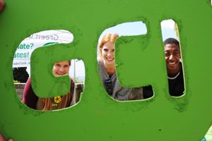 Green Week 2012 GCI team pose with logo