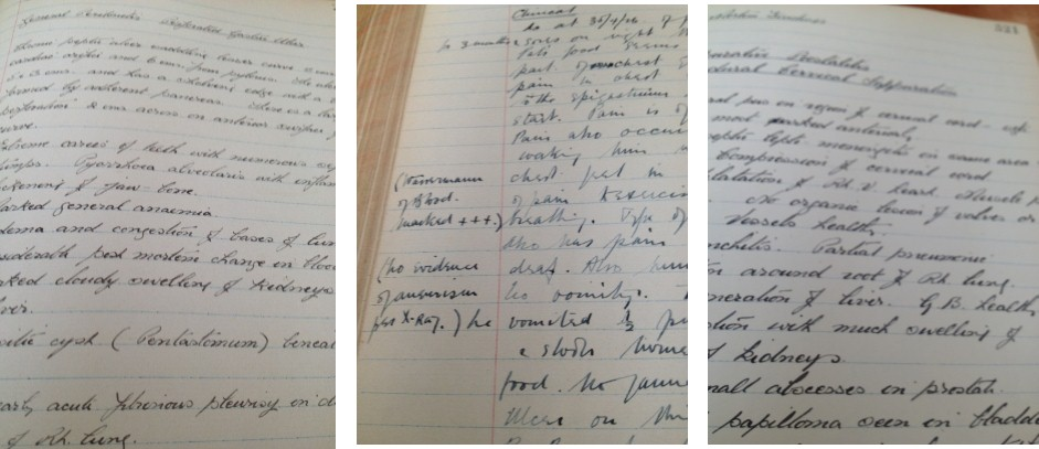 And other examples from the 1920's, when doctors could still write