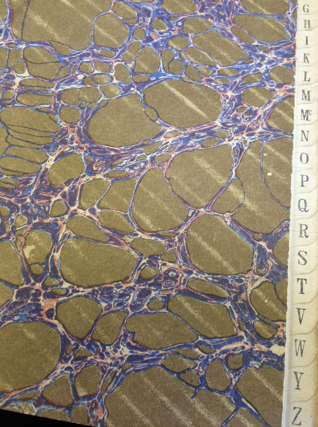 This is the lovely end paper of the first PM book of the Department of Pathology, University of Cape Town. A passing resemblance to lung alveoli at low power?