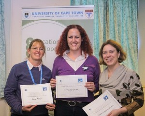 Winners (left to right) Associate Professor Romy Parker, Dr Chivaugn Gordon and Ms Sarah Crawford Browne