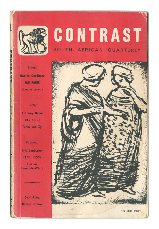The cover of Contrast Literary Magazine, 1960.