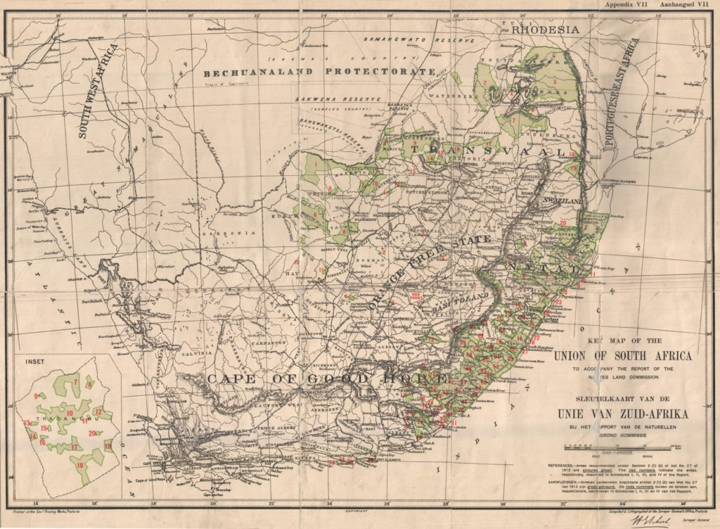 Key map of the Union of South Africa, 1916.
