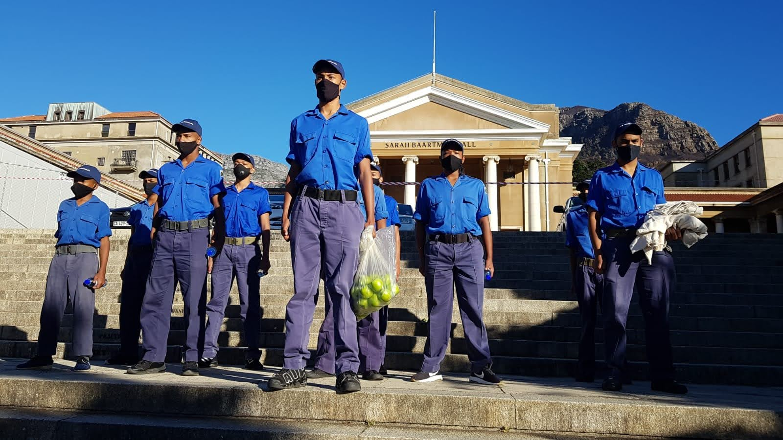 The Sea Cadets on Jammie Steps.